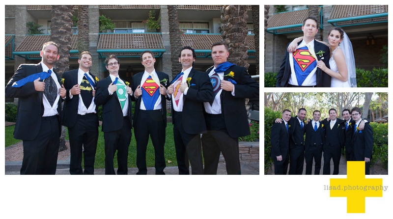 Scottsdale Hyatt Wedding photos | Superheros wedding | Groomsmen | Hyatt Gainey Wedding| Scottsdale Wedding photographer| Phoenix wedding photographer| scottsdale wedding vendors|