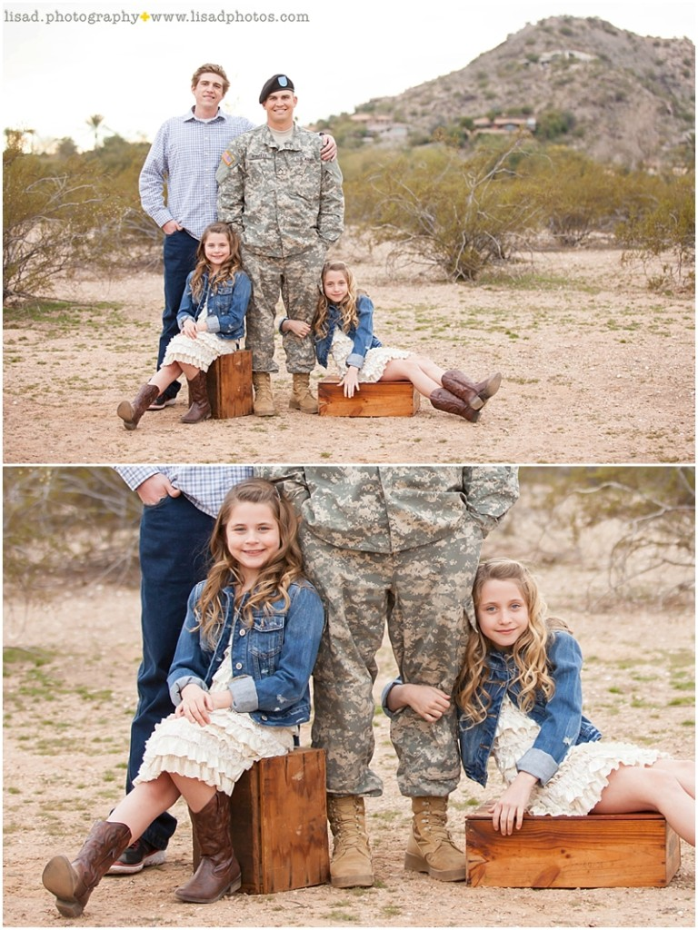 military family photography in Paradise Valley, AZ - phoenix family and children photographer serving Phoenix and surrounding areas - desert location - lisa d. photography - americana - patriotic