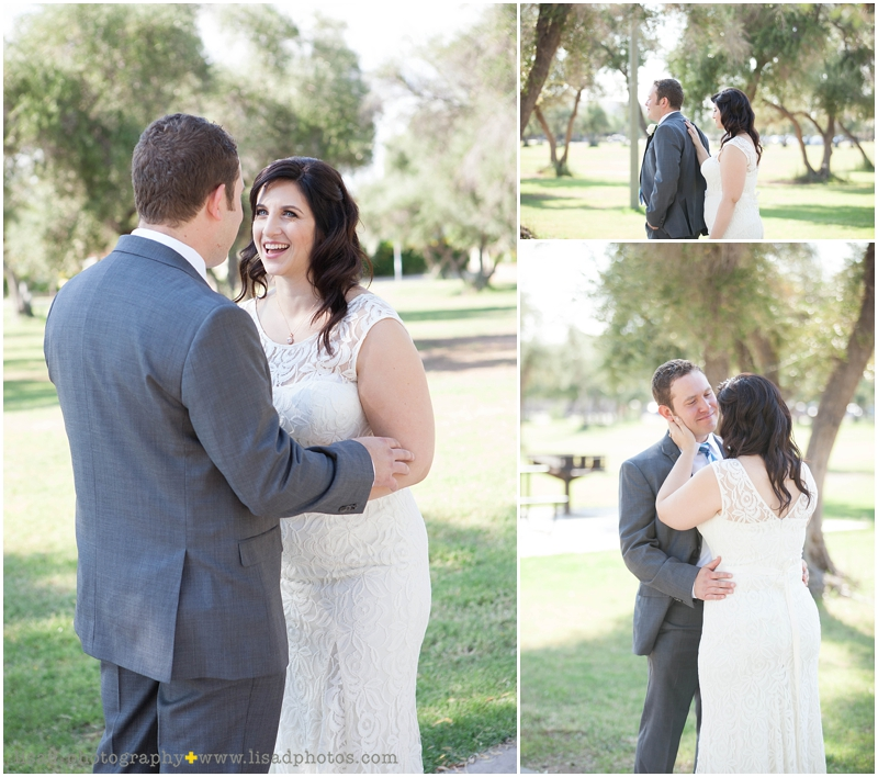 El Encanto Weddiing in Cave Creek, AZ photographed by Lisa d. Photography | first look