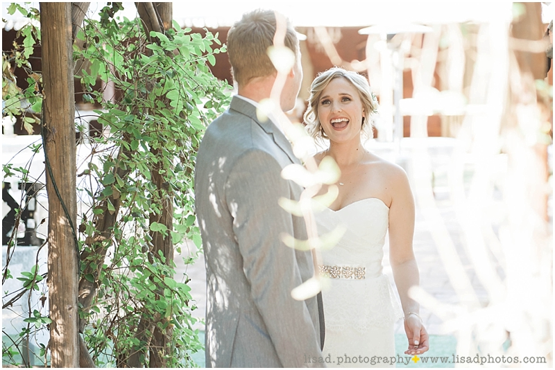 Whispering Tree Ranch Wedding in Laveen, AZ | Lisa d. Photography | Rustic wedding first look