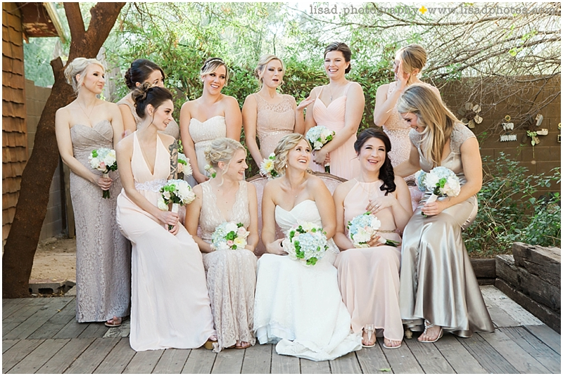 Whispering Tree Ranch Wedding in Laveen, AZ | Lisa d. Photography | Rustic wedding party