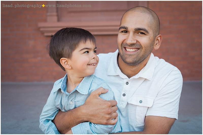 Father and son. Tempe photography at Old Main in Tempe, AZ by Lisa d. Photography.